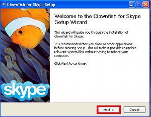 Clownfish for Skype screenshot