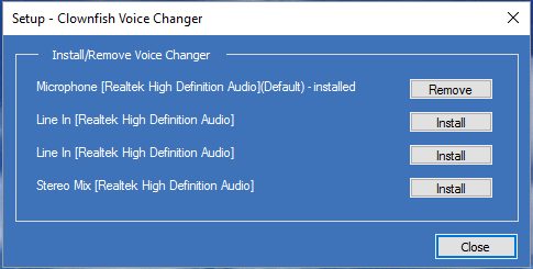 how to use voxal voice changer